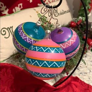 Hand Painted Italian Glass Ornaments